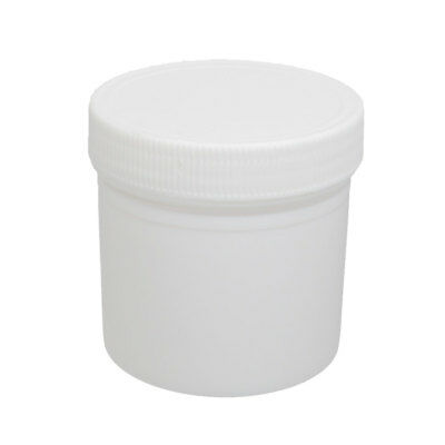 Plastic Screw Cap Cover Tablet Capsule Container Empty Medicine Bottle White