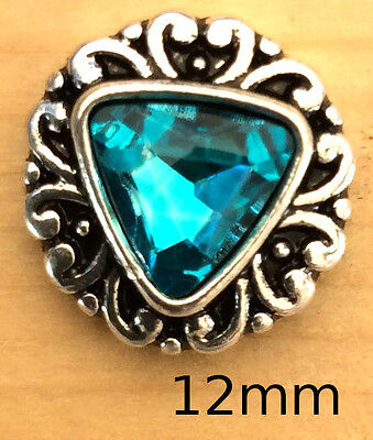 ;!Snap.Chunk Button Turquoise Pink Heart Set Charm For Ginger Snap Style Jewelry