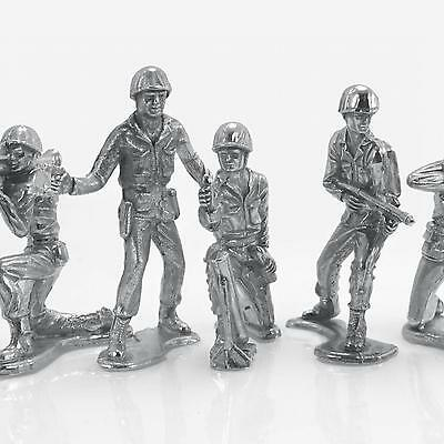 Soldier Army Men Series - Set Of Six 1.25 oz .999 Silver (Each) USA Figurines