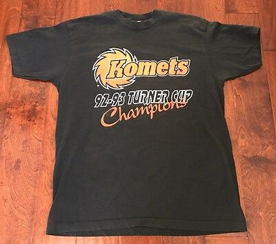 VTG Fort Wayne Komets 92/93 Turner Cup Champion Extra-Large T-Shirt Black