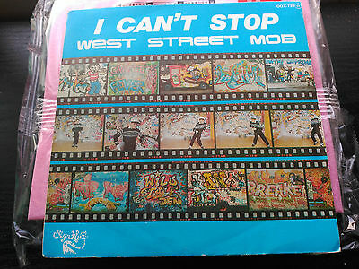 Single Promo West Street Mob - I Can't Stop - Zafiro Spain 1985 Vg+