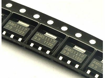 5 X Ams1117 Smd Regulador De Tensión 3,3 V Low Dropout Voltage Regulator Sot-223