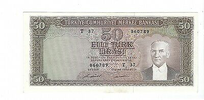 Turkey - 50 Lira, 1930  !!A-UNC!!