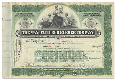 Manufactured Rubber Company Stock Certificate
