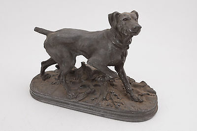 Cast Metal Hunting Dog Statue Pointer (C5L) Figurine Nigh Muellers Sons No 889