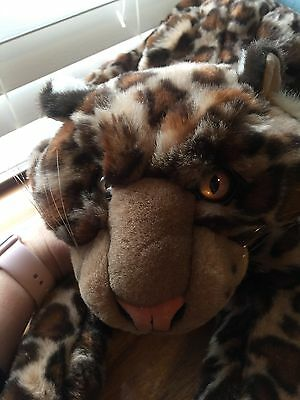 """36"""" Leopard Puppet Plush Stuffed Toy By Folktails Folkmanis Retired & Rare"""