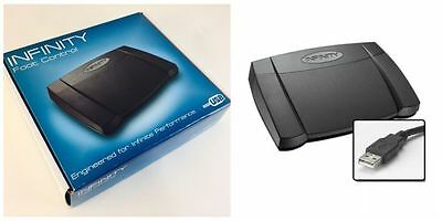 New In Box - Infinity USB Transcription Foot Control Pedal (IN-USB-2)
