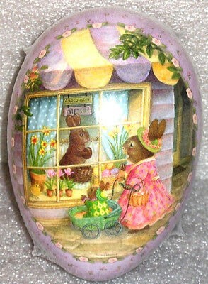 GIGANTIC Easter Egg (13x9x9) S Wheeler CHOCOLATE BUNNY Holly Pond Hill MINT