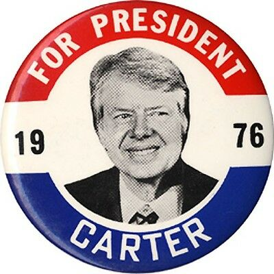 Classic 1976 Jimmy Carter FOR PRESIDENT Large Campaign Button (4062)