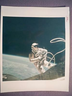 Vintage Ed White Spacewalk Red Serial Iconic Photo Nasa Emp Signed A Kodak Paper
