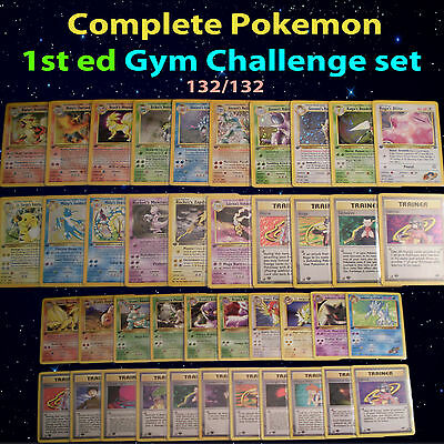 1st edition COMPLETE Pokemon GYM CHALLENGE Card Set/132 Blaine's Charizard ed