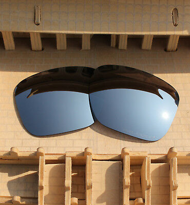 BVANQ Polarized Lenses Replacement for-Oakley Sliver XL OO9341 - Silver Mirror