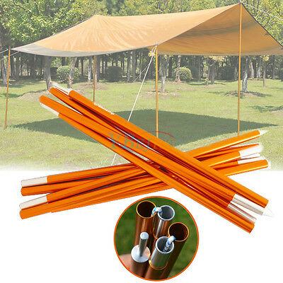 2pcs 5 Section Tarp Shelter Canopy Tent Awning Support Rod Upright Porch Pole LJ