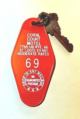 Historic CORAL COURT MOTEL Key Fob  Room #69  St Louis MO Route 66