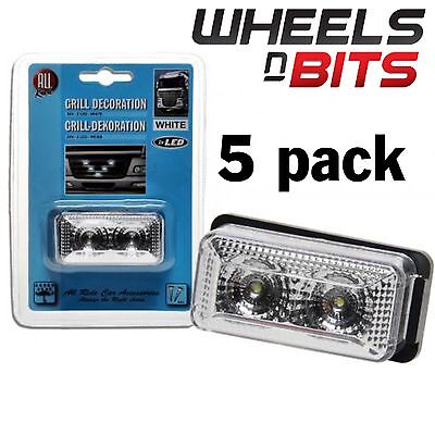 5 PK Blanc 6cm LED position Grille feu 24 Volts Scania Volvo ERF HINO Mercedes