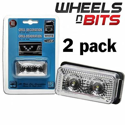 2 PK Blanc 6cm LED position Grille feu 24 Volts Scania Volvo ERF HINO Mercedes