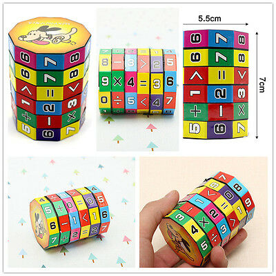 Magic Math Digital Cube Cylindrical Puzzle Educational Arithmetic Toys For Kids