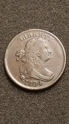 1804 1/2C Spiked Chin BN Draped Bust Half Cent