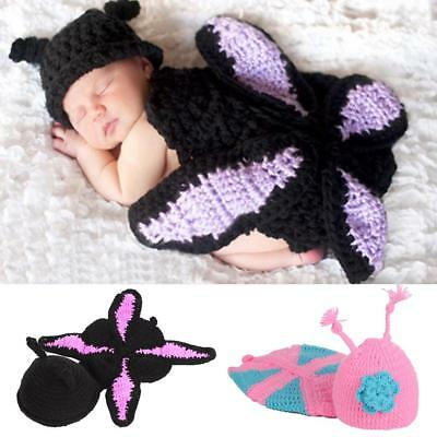 Infant Baby Girls Boys Knit Crochet Hat Costume Photo Photography Prop Outfits