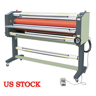 "USA STOCK 63"" Stand Frame Full-auto Single Side Wide Format Hot Laminator Ving"