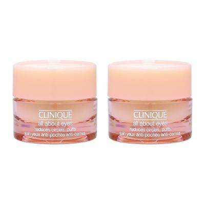 2 PCS Clinique All About Eyes 7ml Skincare Cream Dark Circle Firming Fine Lines