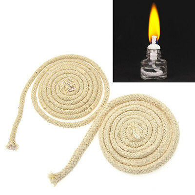 1M Long Cotton Round Wicks Burner Oil Kerosene Alcohol Lamp Lighting Supplies