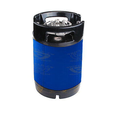 Free Shipping NEOPRENE KEG PARKA / JACKET FOR 9.5L KEGS blue
