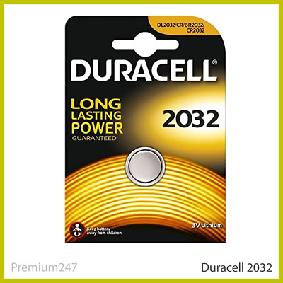 New Duracell CR2032 3V Lithium Button Battery Coin Cell DL/CR 2032 Expiry 2029