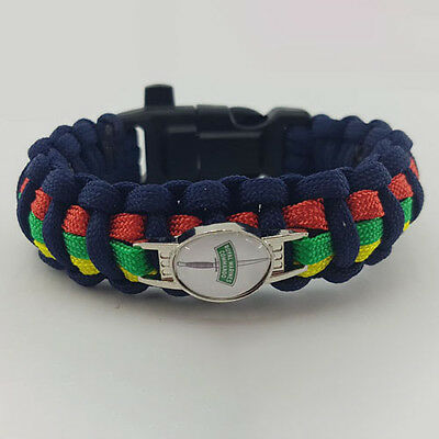 Royal Marine (RMC) Commando Dagger Badged Survival Bracelet Edge Wristband