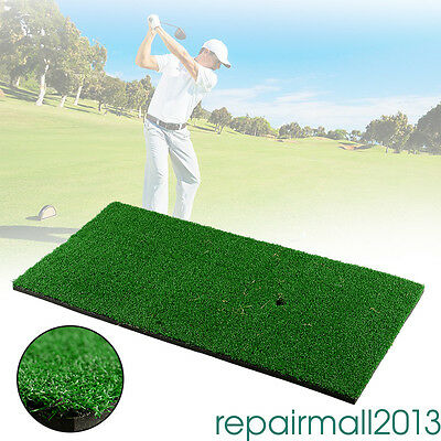 Golf Practicing Mat Mini Hitting Mat Rubber Tee Holder Green 60x30cm Trainer fx