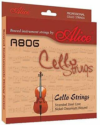 Alice CELLO STRINGS Set A D G C String High Quality Full Size 4/4 3/4 UK Seller