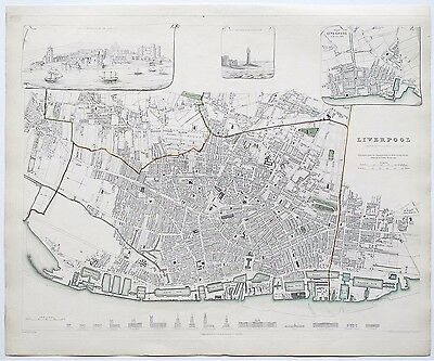 Liverpool Sduk Map Plan 1832 Published 1844