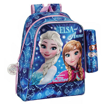 Disney Frozen Northern Lights Backpack Rucksack + Pencil Case Kids School Bag L