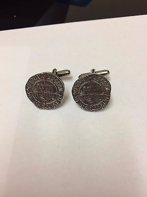 Henry VII Half Groat Coin WC46A Pair of Cufflinks Made From English Pewter