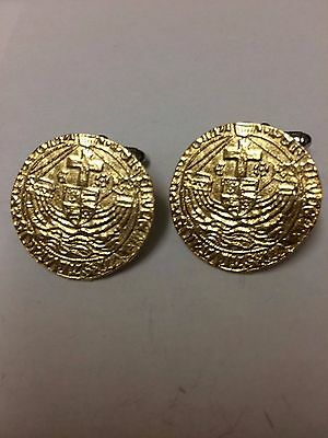 Richard III Gold Angel Coin WC53A Pair of Cufflinks Made From English Pewter
