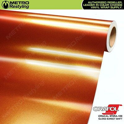 ORACAL Series 970RA-100 GLOSS SUNSET SHIFT Vinyl Vehicle Car Wrap Sheet Film