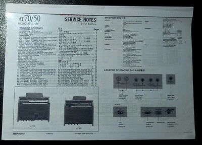 Service Notes f. Roland Atelier AT-50 / AT-70