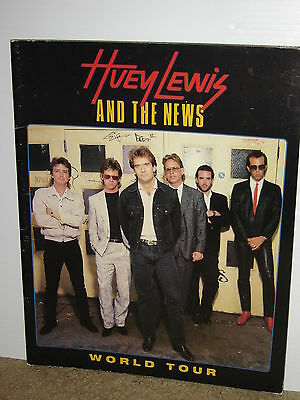 Huey Lewis And The News World Tour Concert Tour Program