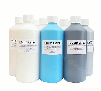 500ml Liquid Latex Flesh-Black-Blue-Red-White-Pink-Clear-Green-Skin-Gold-Silver