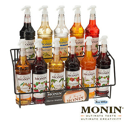 NEW Monin Coffee Cocktail 70cl Glass Syrup Flavours & Pump Set - USED BY COSTA