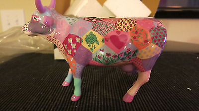 Cow Parade #7322 Patchwork New in Box with Tag