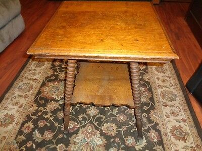 Antique Barley Twist Leg Oak Table