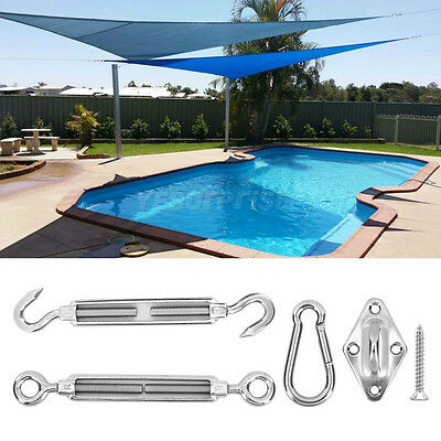 Stainless Steel Accessory Hardware Bundle Kit for Sun Shade Sail Installation