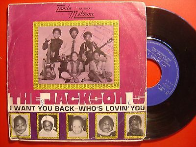 THE JACKSON 5*MICHAEL JACKSON*I want you / who´s lovin SPAIN 45 MOTOWN 1969 p/s