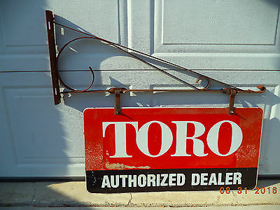 "Vintage Toro Authorized Dealer Double Sided Hinged  Sign   32"" X 16"""