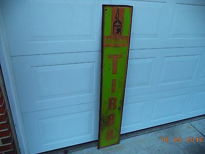 "Vintage Mohawk Tires Metal Sign  59"" X 10""  ""Rare"""