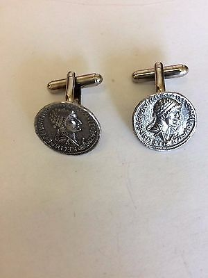 Antony Denarius Coin WC56A Pair of Cufflinks Made From English Pewter