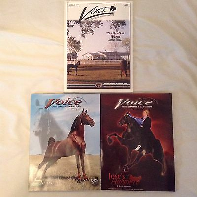 voice of the tennessee walking horse magazines used lot of three