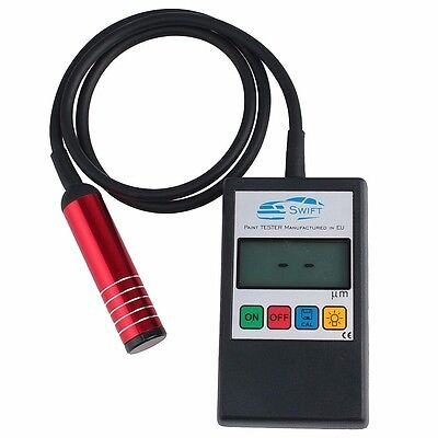 NEW! Digital Car Paint Thickness Coating Gauge Meter Tester STEEL & ALUMINIUM EU