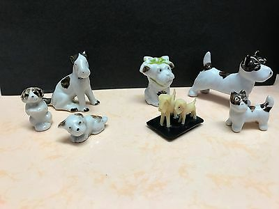Vintage Lot of 8 Dog Figurines - Some from Japan